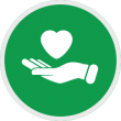 Employee Benefits Icon with Heart